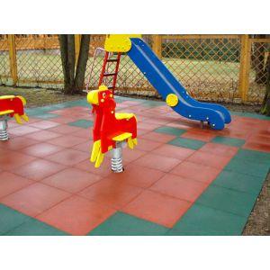 Плитка резиновая на детскую площадку 25 мм