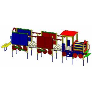 Vadzaari 304 Паровозик с двумя вагонами и горкой