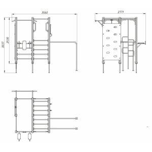 ДК 511 Гимнастический комплекс с кольцами и канатом MV-sport