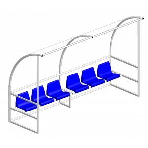 УК 113 Скамейка запасных (6 мест)