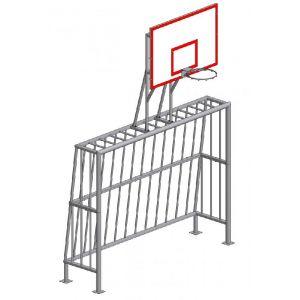 УА 102 Ворота для мини-футбола с баскетбольным щитом (без сетки)