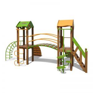 """Игровой комплекс оранжево-зеленый """"Гномик-NEW"""" T802 NEW"""