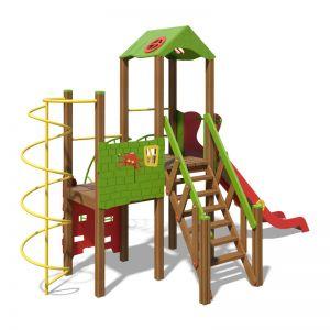 """Игровой комплекс зелено-красный """"Башня-NEW"""" T901 NEW"""